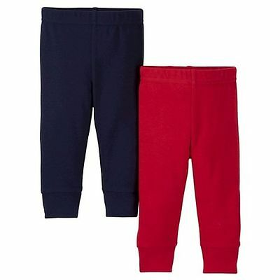 NEW Just One You by Carter's Boys 2 Pairs Pants Red & Navy Blue 6m Bottoms