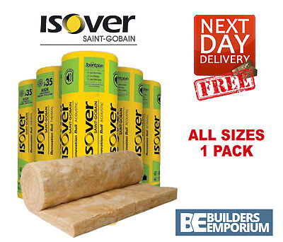 Isover  Loft Insulation Spacesaver Roll Glass Mineral 100, 150, 170, 200mm