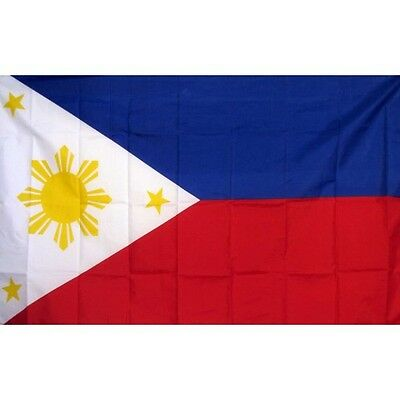 Philippines Country Flag Banner Sign 3' x 5' Foot Polyester Grommets