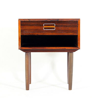Retro Vintage Danish Rosewood Bedside Cabinets Tables Chest of Drawers 1960s 70s