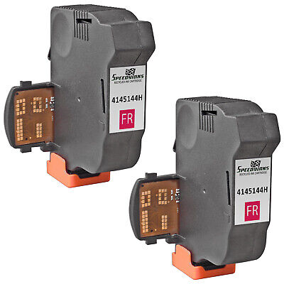 2pk For Neopost Fluorescent Red 4145144H Inkjet Cartridge for NeoPost IS-280