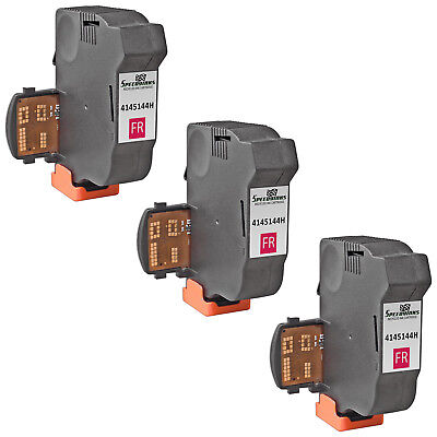3pk For Neopost Fluorescent Red 4145144H Inkjet Cartridge for NeoPost IS-280