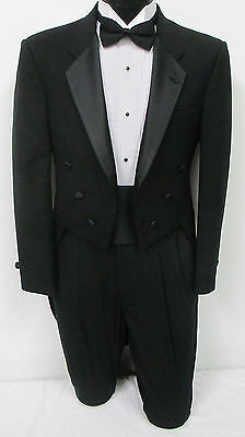 Black Tuxedo Tailcoat Halloween Costume Vampire Dracula Dickens Cosplay 40XL