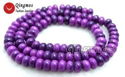 SALE 4*6mm Rondelle purple sugilite Loose Beads strand 15'' jewelry making-lo687