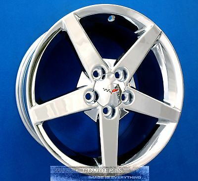 Corvette C6 18 & 19 Inch Chrome Wheels Rims '05-2010 Oe Staggered 18X8.5 19X10