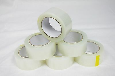 "Tape Clear 12 Rolls Box Carton Sealing Packing Packaging 2""x110 Yards(330' ft)"