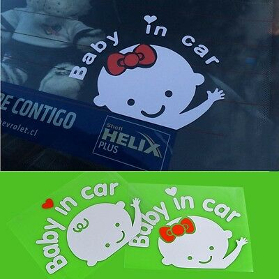 """Baby In Car"" Waving Baby on Board Safety Sign Car Vinyl Decal / Sticker"