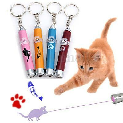 Pet Cat Dog Play Toy LED Laser Pointer Light Pen W/ Bright Interactive Animation