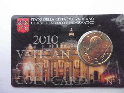 coincard 50centimes vatican 2010 FDC