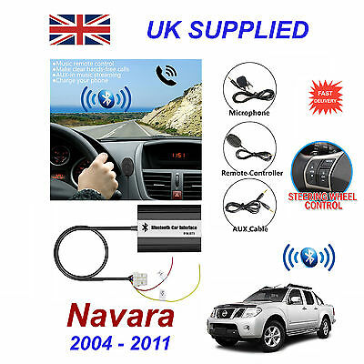 For Nissan Navara Bluetooth Hands Free Phone AUX Input MP3 USB 1A Charger Module