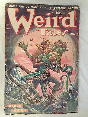 Weird Tales July 1949 - Fredric Brown, Robert Bloch, Seabury Quinn, Fritz Lieber