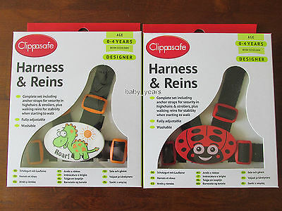 Clippasafe Fully Adjustable Walking Highchair Harness & Reins Toddler Childrens