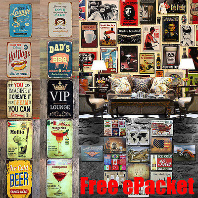 Retro Metal Sign Tin Poster Tavern Pub Bar Club Cafe Home Plate Wall Decor Paint