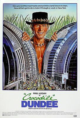 """Crocodile Dundee"" Paul Hogan Linda Kozlowski Classic Movie Poster A1A2A3A4Sizes"