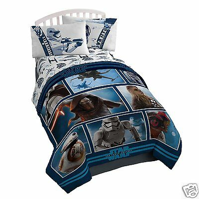 DISNEY STAR WARS TWIN SIZE COMFORTER, Ep7, THE FORCE AWAKENS