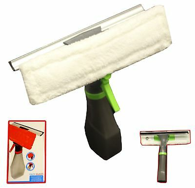 Mirror Glass Window Cleaner Wiper Microfibre pad with Spray bottle