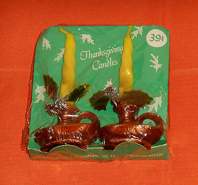 vintage Thanksgiving GURLEY CANDLES sealed in package