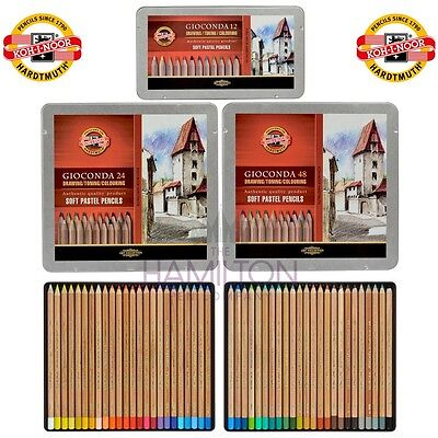 KOH-I-NOOR SOFT PASTEL PENCILS - soft, creamy pastel pencils in various tin sets