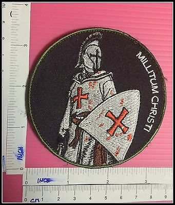 CRUSADER KNIGHT TEMPLAR Millitum Christi Millitary Morale Army SHIELD PATCH War