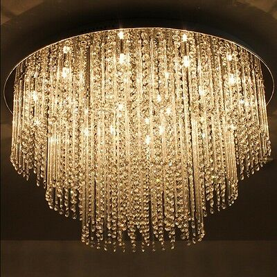 Crystal Chandelier Curtain Pendant fixture hall Ceiling hang lamp led light h8