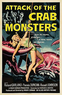 """""""Attack Of The Crab Monsters""""..Retro Cult Movie Poster A1A2A3A4Sizes"""