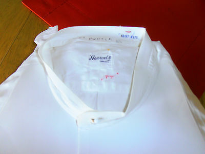 VtG 1930s  Harrods Collarless Plain Fronted Dress Shirt sz 14""