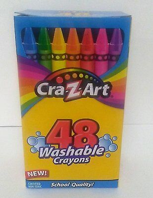Cra-Z-Art  WASHABLE CRAYONS - 48 Brighter Colors - Non-Toxic - School Quality
