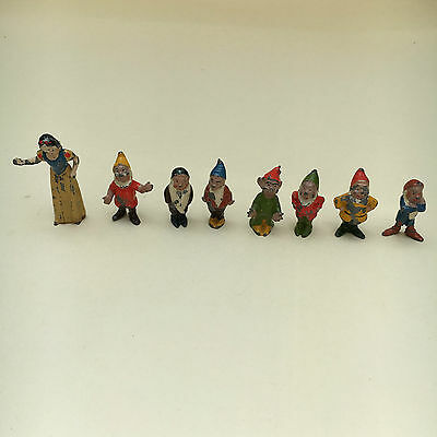 Vintage Set of  Snow White & Seven Dwarf Lead Figures C1930