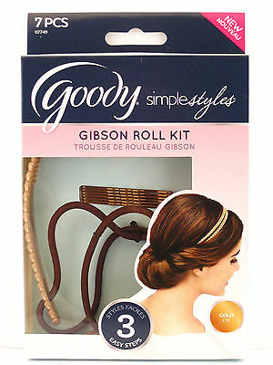 Goody Simple Styles Gibson Roll Kit - Gold - 7 Pcs.  (07749)