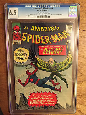 Amazing Spider-Man   #7  Cgc  6.5  Cream To Off White Pages  (2Nd Vulture)