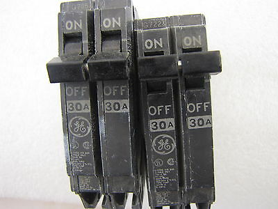 Lot of 2 GE THQP230 2 Pole 30 Amp Circuit Breakers