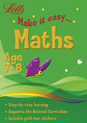 Letts Make It Easy - Maths Age 7-8 Book The Cheap Fast Free Post