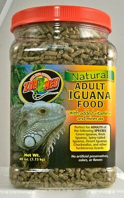 Zoo Med Natural Iguana Food - Adult Formula 40 oz