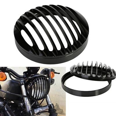 "5 3/4"" Black Aluminum Scheinwerfer Grill Cover for Harley Sportster XL 883 1200"