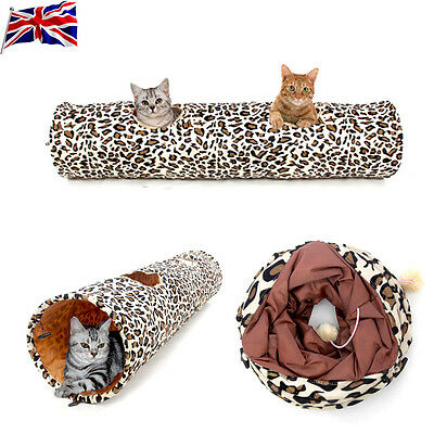 Pet Tunnels Cat Products Toys Funny Hole Kitten Long Tunnel 2 Holes Play Toy