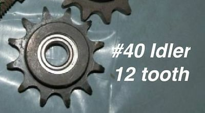 #40 Sprocket Idler 12 Tooth Roller Chain  2PACk - 10 PACK