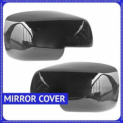 Black Full Glossy Wing Door Mirror Covers cups for Land Rover Discovery 3 05-09