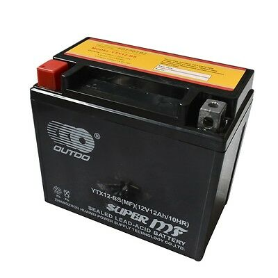 12V 10Ah AGM YTX12-BS Battery for Suzuki Honda Aprilia Kawasaki Polaris XQ