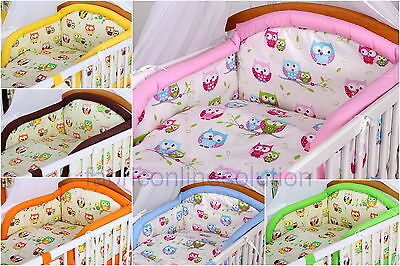 3pc BABY NURSERY BEDDING SET/BUMPER/ Duvet Cover for Cot or Cot Bed 100% COTTON!