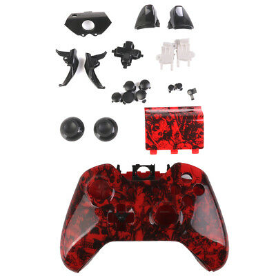 Skull Full Housing Shell Case Button Replacement Kit for Xbox One Controller