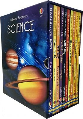 Usborne Beginners Series Science Collection 10 Books Box Set Solar System, Sun