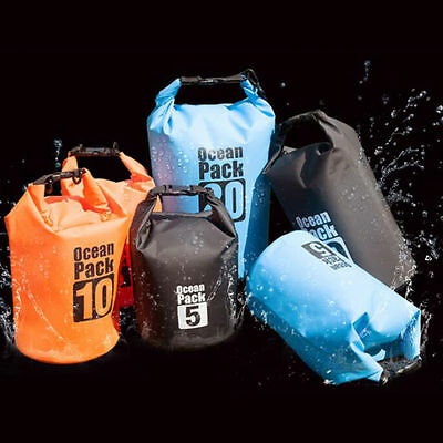 2-30L Waterproof Backpack Dry Bag Pouch Boating Kayaking Sports Camping Hiking