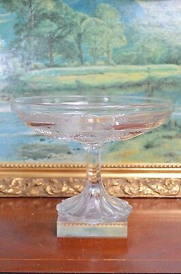 Vintage Pressed Glass Cake Fruit Tazza Comport Footed Bowl Stand Sweets Wedding