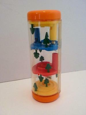 Vintage Tomy Pocketeers Tower Teaser Ball Hand Held Puzzle Game Rollerball 1980s