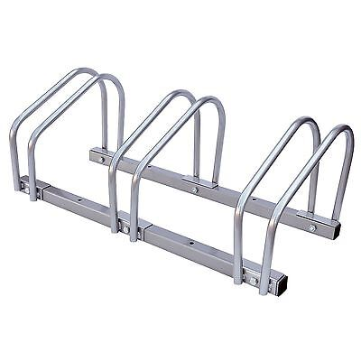 3 Bike Floor Wall Mount Bicycle Cycle Rack Storage Garage Shed Locking Stand