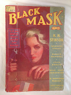 Black Mask - Sept 1938 - H H Stinson, Donald Wandrei, Theodore Tinsley