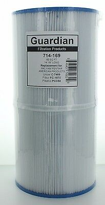 4 Pack Filters replace PCC60 Cartridge Pentair Clear & Clear 240 R173572 C-7469