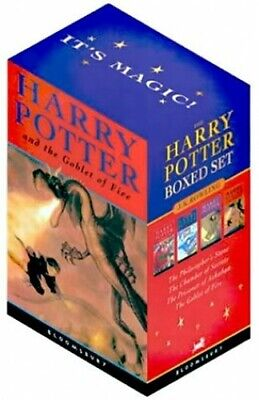 Harry Potter Paperback Box Set: Four Volumes by Rowling, J. K. Book Book The