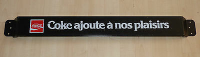 Vintage French-Canadian Coca-Cola tin door push pushbar sign Coke FREE SHIP!