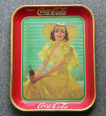 Rare Canadian 1938 Coca-Cola COKE serving tray FREE SHIPPING!